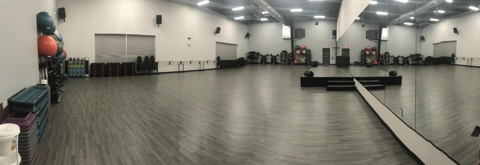 Group Fitness Room with more than 1500 classes per month